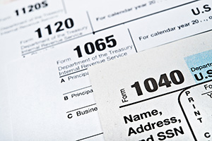 US Income Tax Return Forms